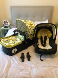 Cosatto car seat and carrycot