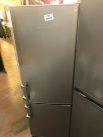 SILVER LEIBHERR FRIDGE FREEZER