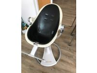 Bloom Fresco High Chair in white and black