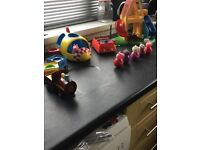 Peppy pig Weeble wobble set
