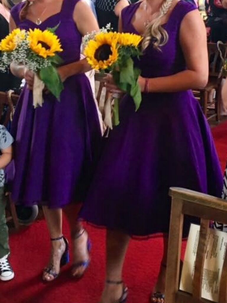 Cadbury purple bridesmaids dresses immaculate condition sizes 8 cadbury purple bridesmaids dresses immaculate condition sizes 8 to 14 and one 14 yrs ombrellifo Image collections