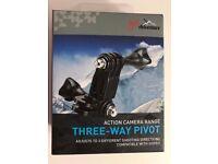 Go Pro compatible Three way Pivot,