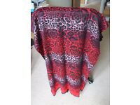 Large Red Shawl Scarf
