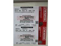 1 X JAY-Z AND BEYONCE OTR II FRI 15-JUN-18 London Stadium Seated Upper Tier