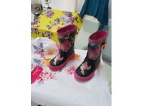 Girls Joules wellies.