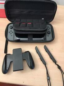 Nintendo Switch - Grey - Boxed, with travel case and 3 games