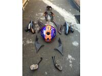 Yamaha R125 YZF Blue & Orange colour body