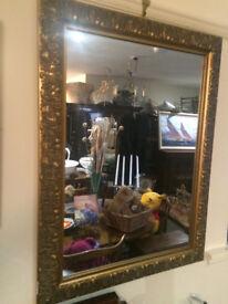 Attractive Ornate Gilt Carved Framed Rectangular Mirror