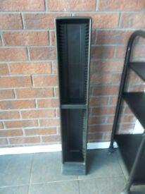 Black Plastic Tower CD Rack