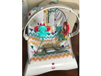 Fisher price baby bouncer-vibrating chair immaculate condition