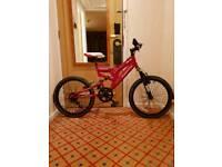 Boys muddyfox full suspension mountain bike