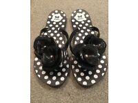 Zaxy womens black flip flop, uk 4 / 37