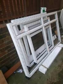 4 plastic upvc windows
