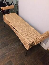Gorgeous wrought iron/whicker bench/seat