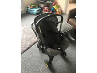 ***NOW SOLD*** Doona Pram/ car seat in grey, used, good condition with all attatchments.