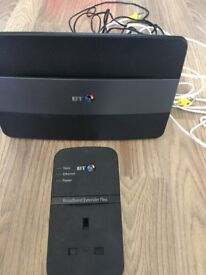 BT Smart Hub Broadband & Extender Flex With Ethernet Cable