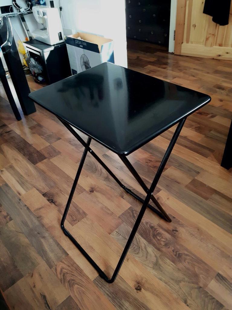 Habitat Airo metal folding table black ideal laptop side  : 86 from www.gumtree.com size 768 x 1024 jpeg 93kB