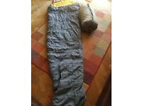 "Two ""caravan"" brand mummy sleeping bags."