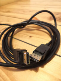 3 meters long display port cable - Max Resolution HD
