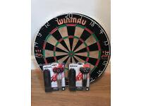 Quality Dart Board (Winmau) and Darts (all unused)