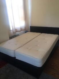 King Size Bed Frame With Zip Lock Matress