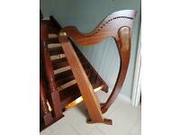 Beautiful Tara Irish Harp - 34 strings