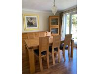 DELUXE SOLID FRENCH OAK, HAND MADE, MODERN FURNITURE, Expandable - A1 Condition