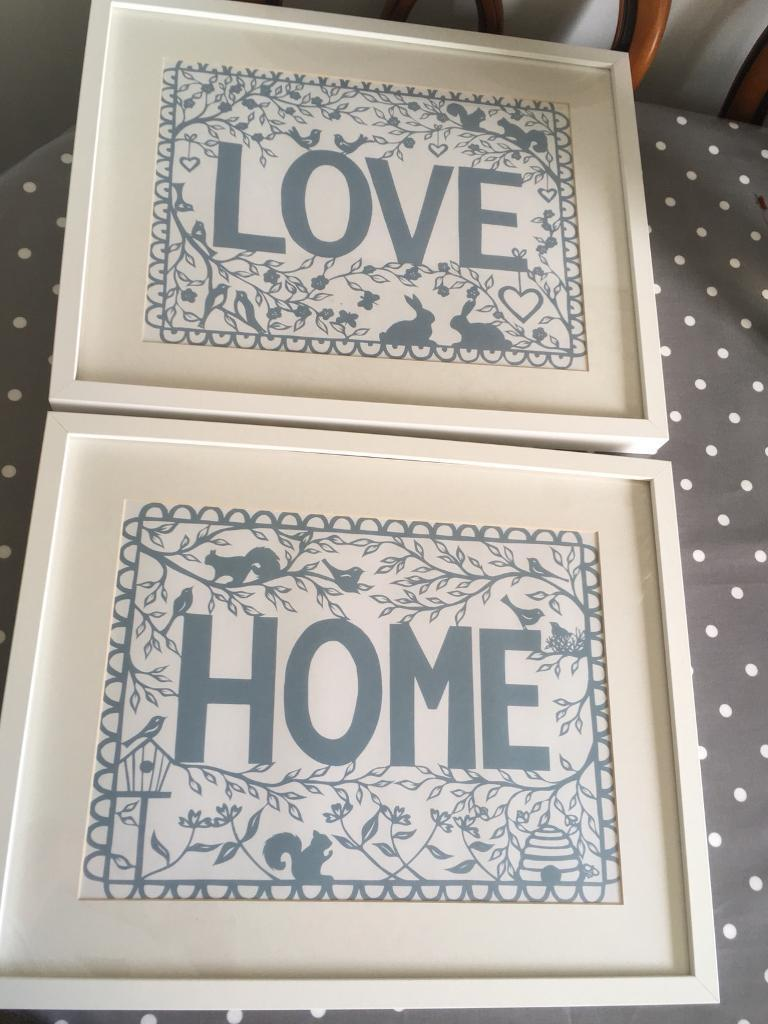 Two white Ikea Ribba wall picture frames | in Ystrad Mynach ...