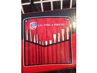12 pc long pattern chisel & punch set (tools)