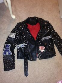 Zara rock studd leather jacket