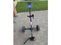 Power caddy golf trolleys 1 pull & 1 batterie( no batterie )