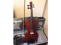 Violin adult size, excellent condition. Stentor with lined case and bow. £250