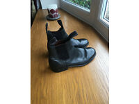 Womens Horse Riding Shoes Black Leather Size 6 Excellent Condition
