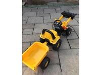 JCB Tractor Trailer and detachable loader ride on