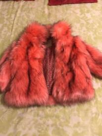 Girls NEXT fur coat excellent condition age 3-4