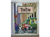 Large A3 TINTIN POSTER BOOK Methuen 1989 1st Edition EO Herge