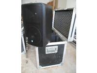 RCF Monitor 8 Speakers / DJ Speakers in flight case