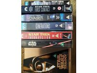 VHS Tapes - selection of Star Wars & Star Trek.