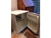 Small white 'Lec' fridge with ice box