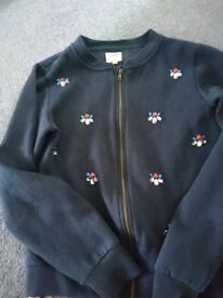 Beautiful Cardigan Jacket for 13y. Navy with pretend gems