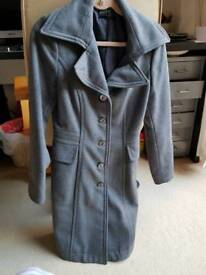 Sisley grey coat, size 10, for sale