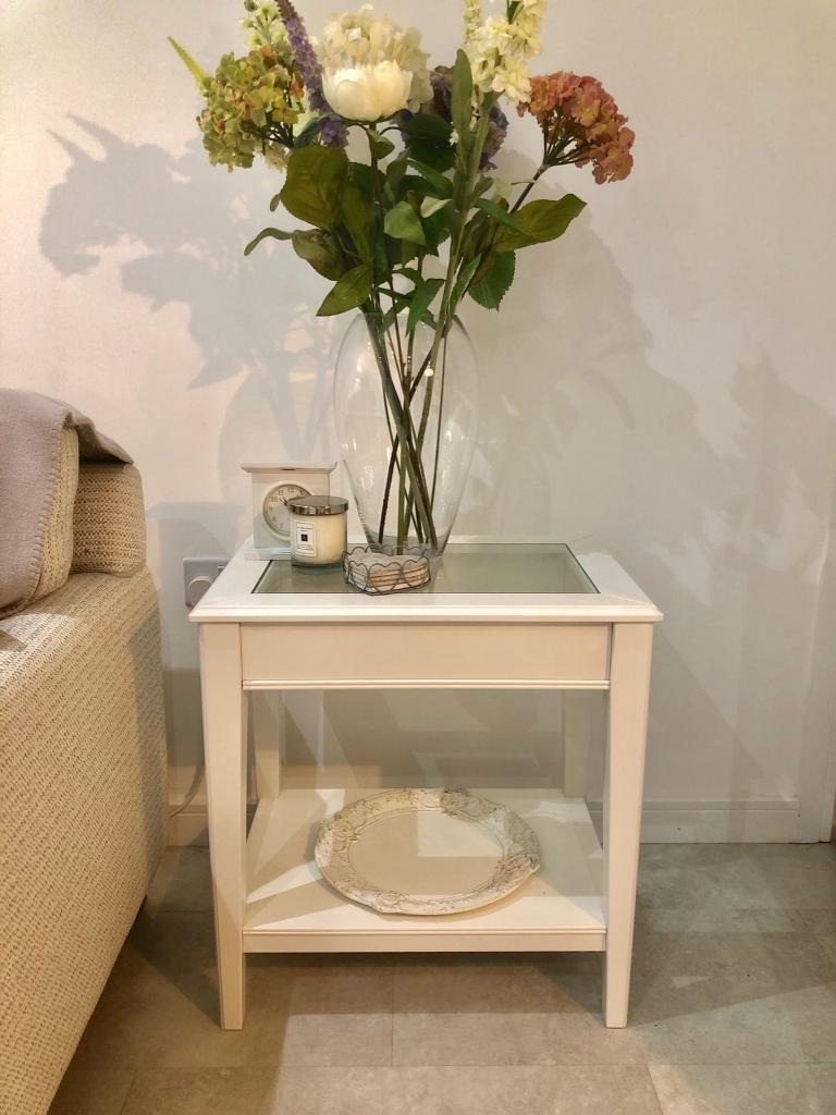 Liatorp Side Table.Liatorp Side Table White Table With Glass Top In Washington Tyne And Wear Gumtree