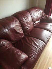 Large, comfortable good quality 3 piece suite