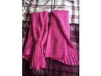 2 x mermaid tail blankets