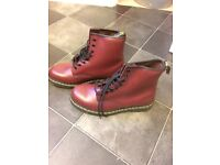 Brand new Dr martens in cherry red smooth size 9