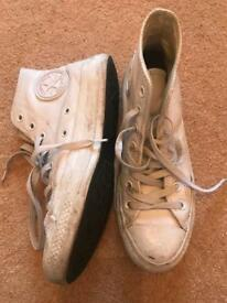 Converse all star hi Leather Size 5