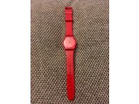 SWATCH WATCH - RED GLITTER