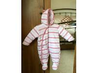 Pink Snowsuit - 0-3 Months