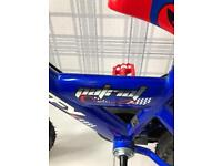 """Excellent condition Huffy Patriot 12"""" bike with helmet and stabilisers"""