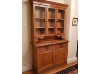 Old [maybe Victorian] pine dresser in very used condition- suitable for painting, restoring